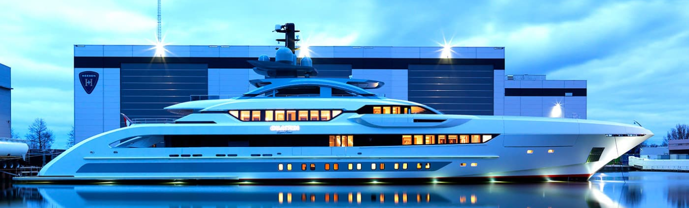 "Largest boat ""Galactica Super Nova"" launched by Heesen Yachts"